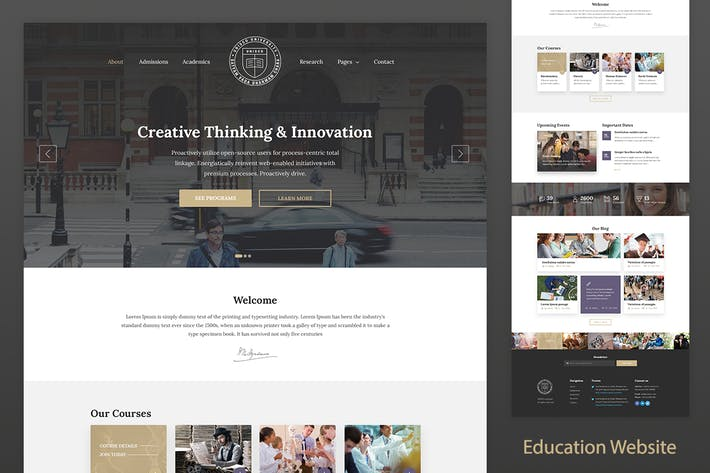 Thumbnail for Education Resposnive Website Template — Unisco