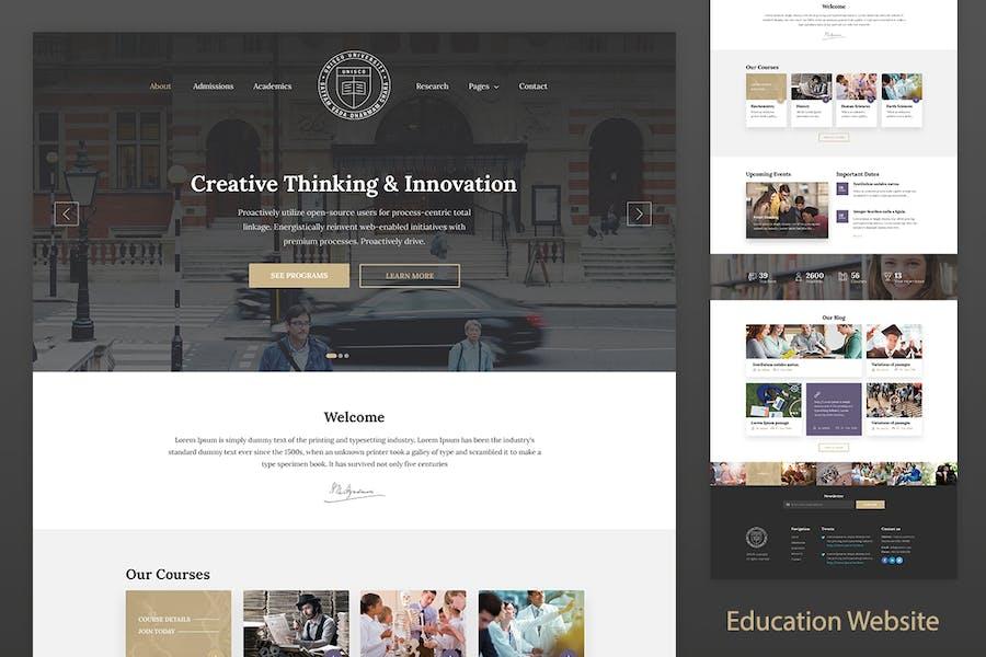 Education Resposnive Website Template — Unisco