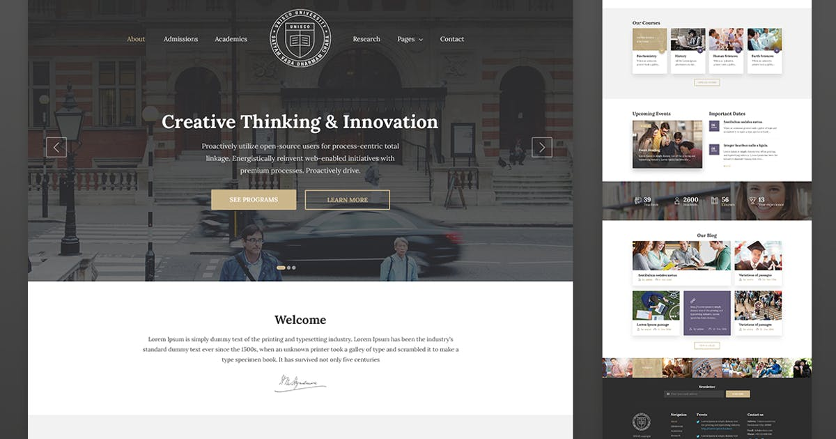 Download Education Resposnive Website Template — Unisco by surjithctly