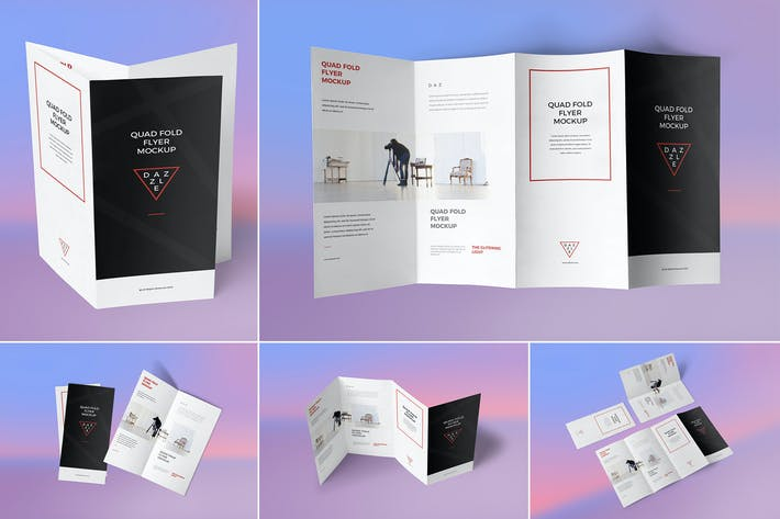 Thumbnail for 4 Fold Brochure Mockups