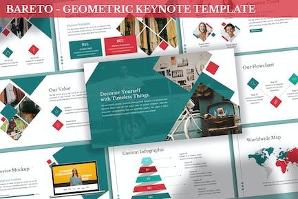 Bareto - Geometric Keynote Template
