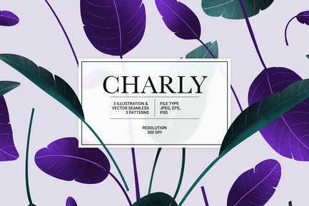 Charly – vector Illustration & Seamless Pattern