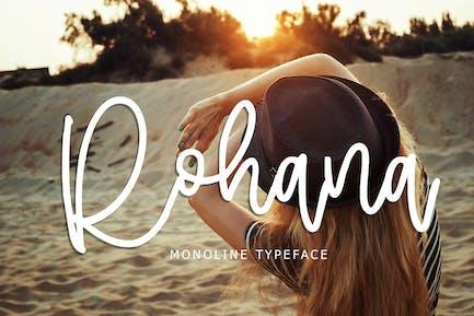 Rohana Monoline Typeface