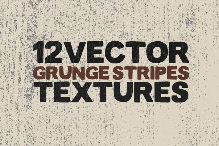 Thumbnail for Vector Grunge Stripes Textures x12