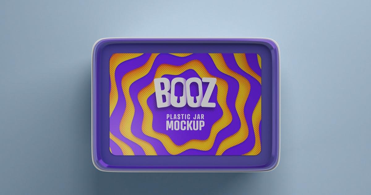 Download Realistic Ice Cream Box Mockup by deeplabstudio