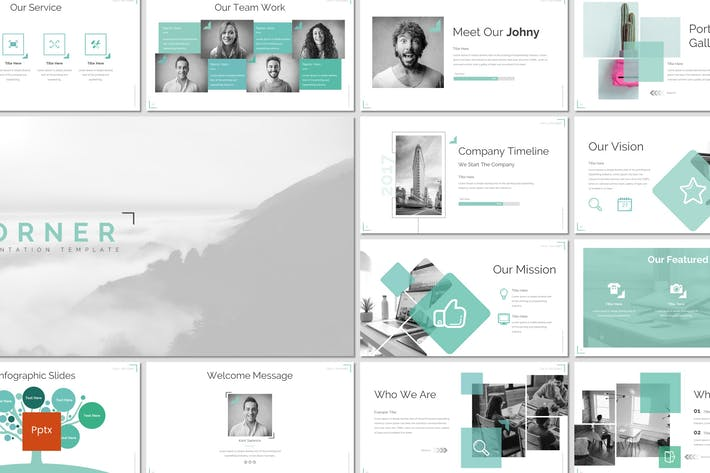 Thumbnail for Corner - Powerpoint Template