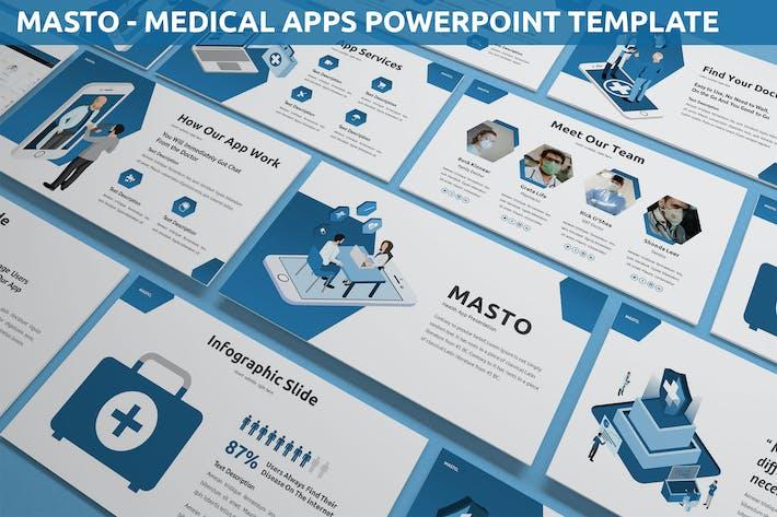 Thumbnail for Masto - Медицинские приложения Powerpoint Шаблон