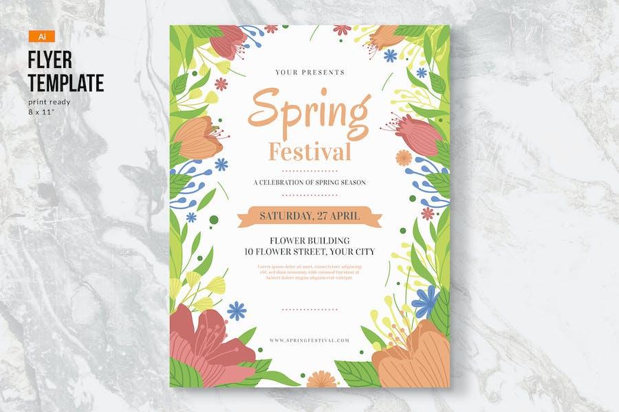 Spring Flowers Flyer Template II