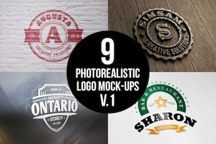 Фотореалистичный Логотип Mock-Ups Vol.1