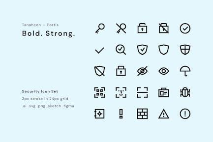 UI-Symbol-Set - Sicherheit