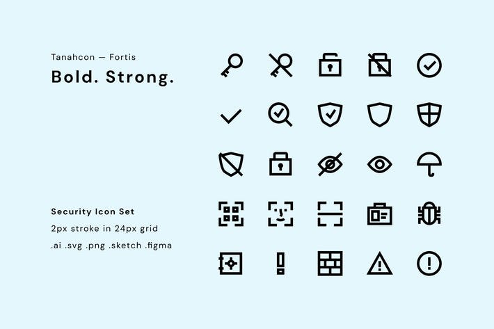 Thumbnail for UI Icon Set - Security