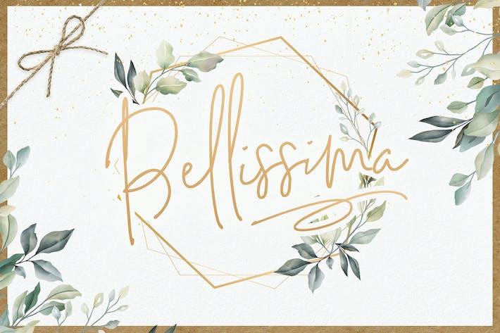 Thumbnail for Bellissima Signature Script Font