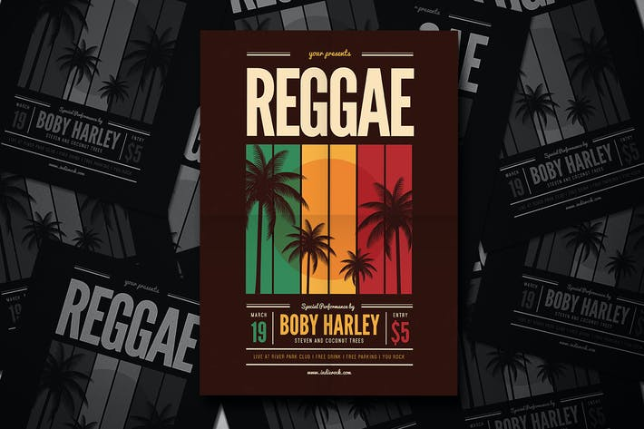 Thumbnail for Reggae Music Party Flyer