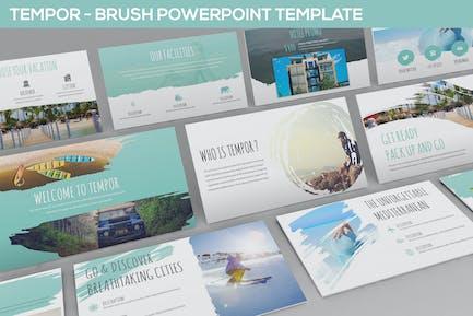 Tempor - Pinsel-Powerpoint-Vorlage