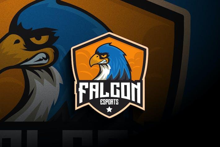 Thumbnail for Falcon Esports - Logo Mascote e Esport