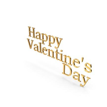 С Днем Святого Валентина Золото