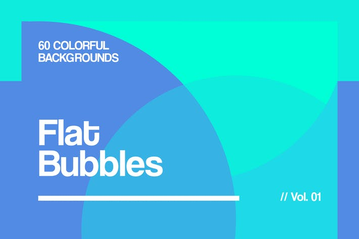 Cover Image For Flat Bubbles | Colorful Backgrounds | Vol. 01