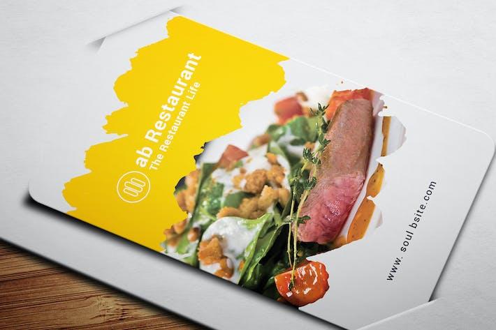 Thumbnail for Carte de visite du restaurant