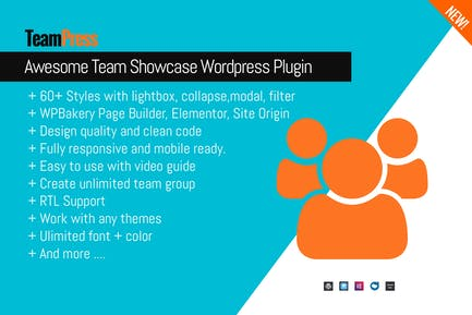 Awesome Team Showcase Wordpress plugin - TeamPress