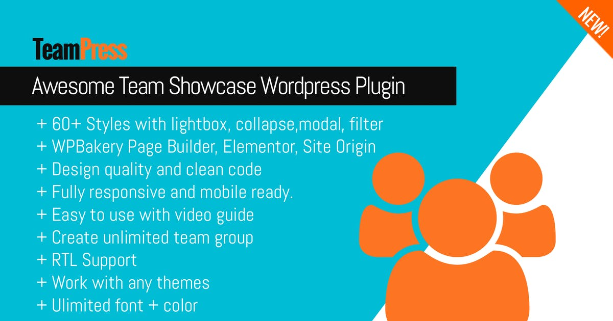 Download Awesome Team Showcase Wordpress plugin - TeamPress by Ex-Themes