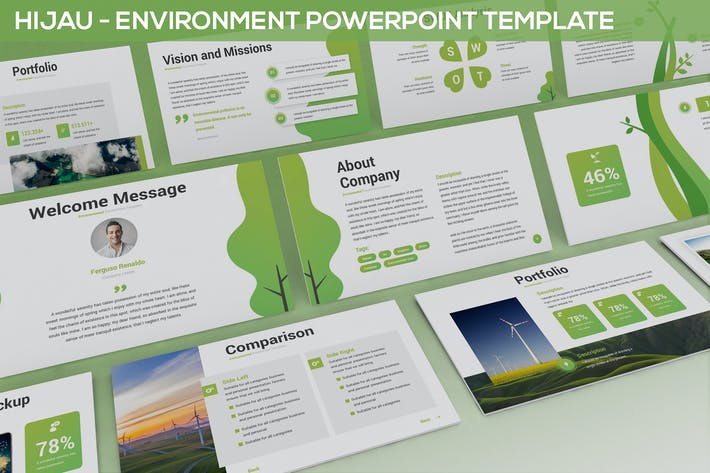 Thumbnail for Hijau - Environment Powerpoint Template
