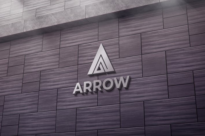 Thumbnail for Arrow A Letter Logo