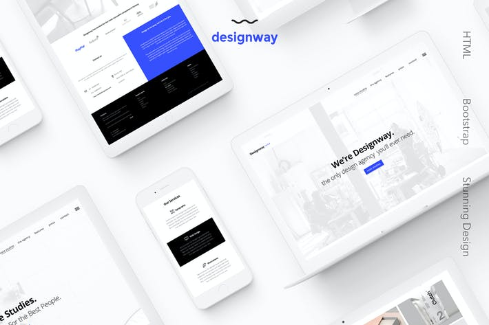 Thumbnail for Designway — Design Agency HTML Template