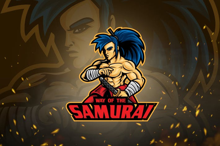 Thumbnail for Male Warrior Mascot & Logo V2 - Samurai Wanderer