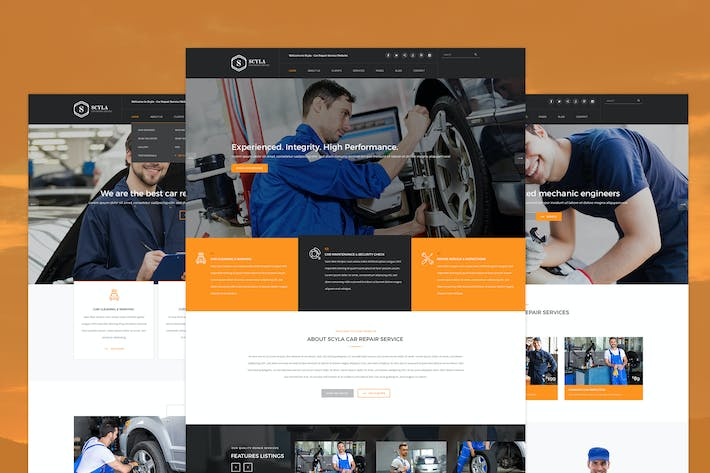 Thumbnail for Scyla - Car Repair Service PSD template