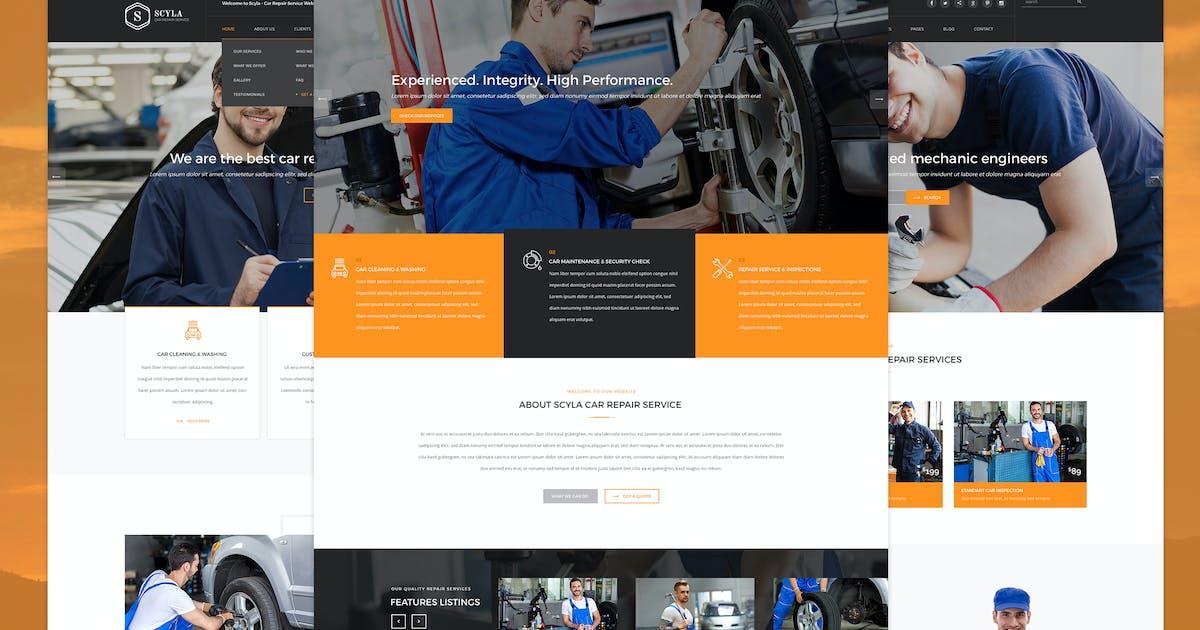 Download Scyla - Car Repair Service PSD template by KL-Webmedia