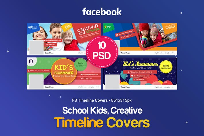 Thumbnail for Creative Kids,Children Facebook Covers