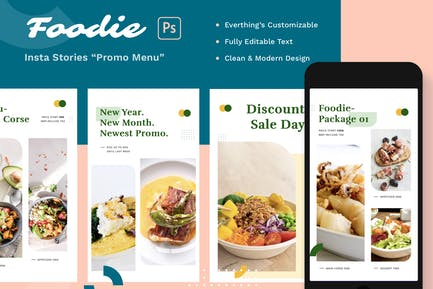 Foodie Insta Stories - Promo Menu