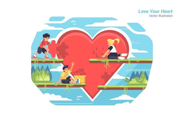 Thumbnail for Love Your Heart - Vector Illustration