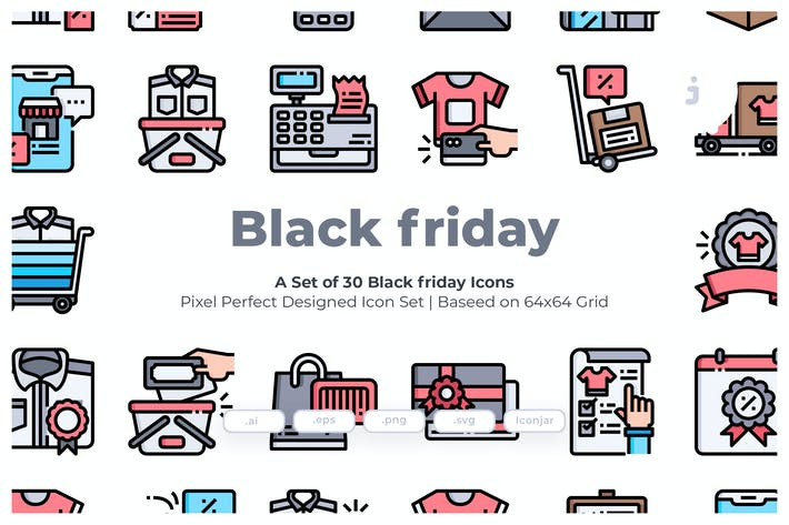 Thumbnail for 30 Black Friday Icons