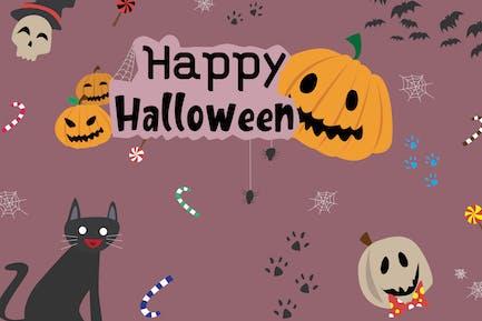 Happy Halloween - Vector Illustration