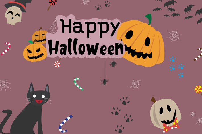 Thumbnail for Happy Halloween - Vector Illustration