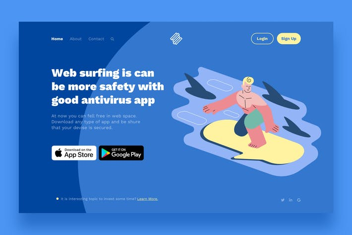 Thumbnail for Surfing Landing Page Illustrations