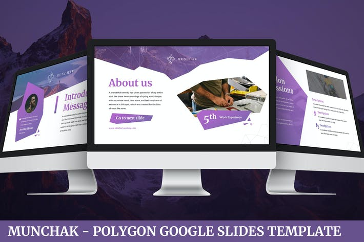 Thumbnail for Munchak - Polygon Google Slides Template