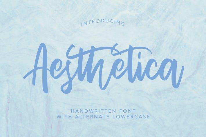 Thumbnail for AesThetica - Fuente manuscrita