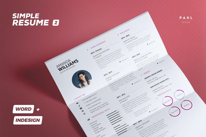 Thumbnail for Simple Resume/Cv Volume 2