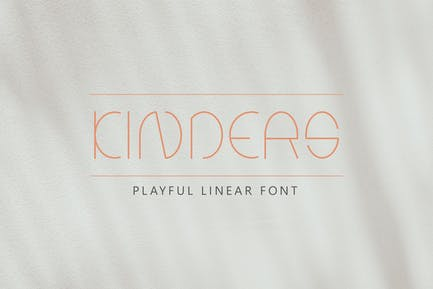 Kinders - Thin Linear Font DR
