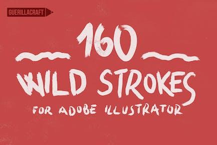 160 Wild Strokes for Adobe Illustrator