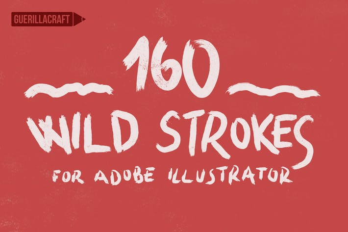 Thumbnail for 160 Wild Strokes for Adobe Illustrator