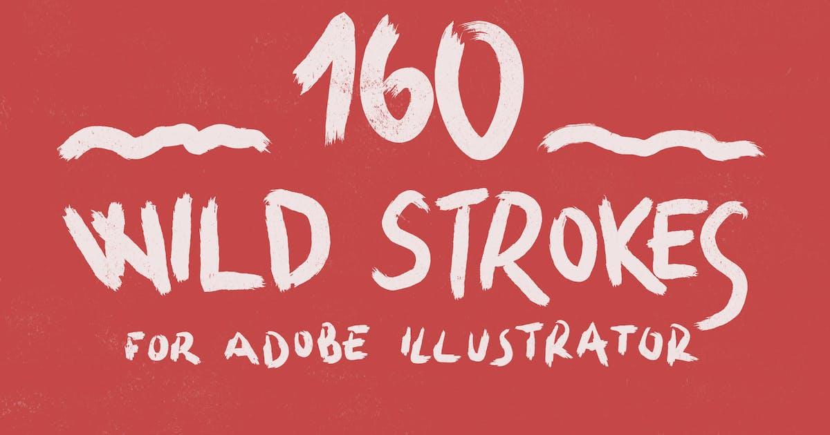 160 Wild Strokes for Adobe Illustrator by guerillacraft