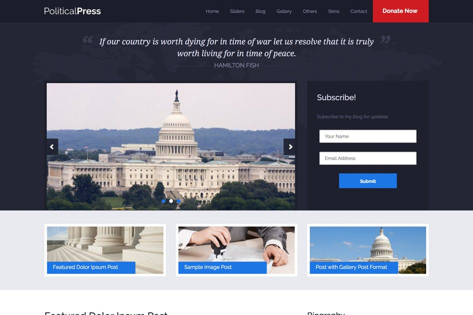 Download Political Press - HTML Template by InspiryThemes