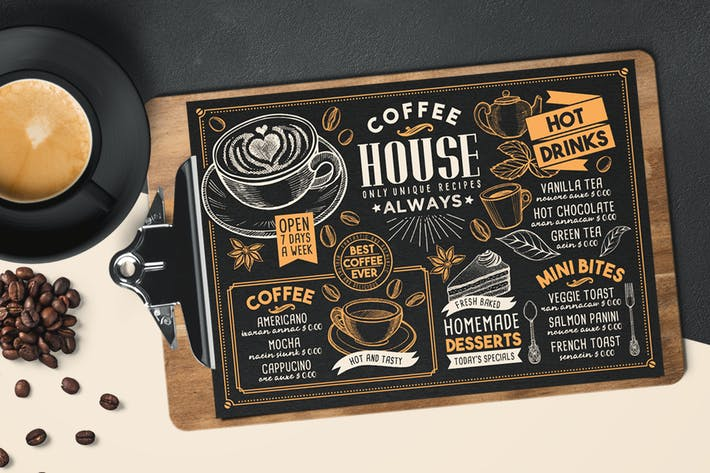 Coffee menu template by barcelonadesignshop on envato elements cover image for coffee menu template maxwellsz