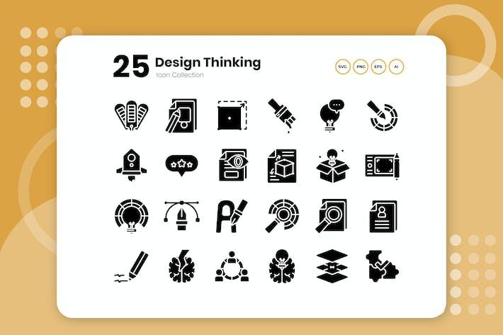 Thumbnail for 25 Design Thinking Glyph Icon