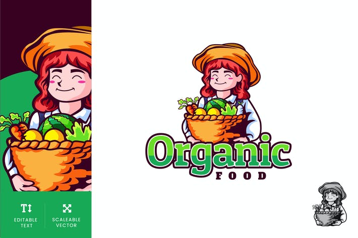 Thumbnail for Organic Food Logo Illustration Vector