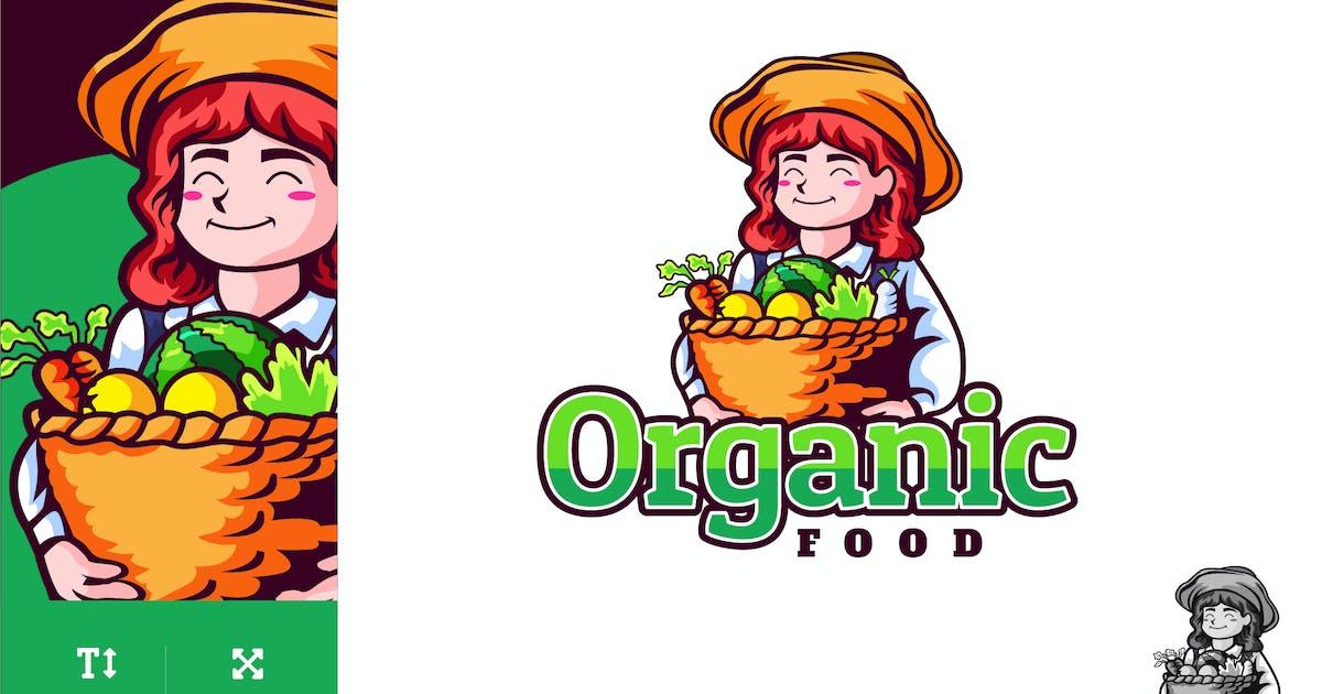 Download Organic Food Logo Illustration Vector by naulicrea