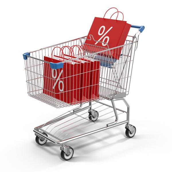 Shopping Cart and Sale Bags